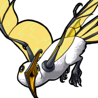 Female Gold Glass-Winged Mew