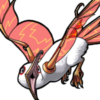 Male Red Glass-Winged Mew